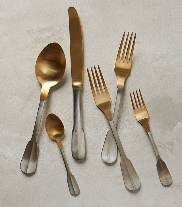 Anthropologie Gold-Tipped Flatware