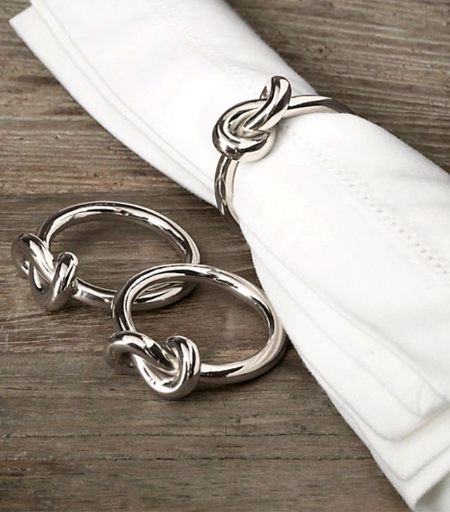 Restoration Hardware Hand-forged Knot Napkin Rings