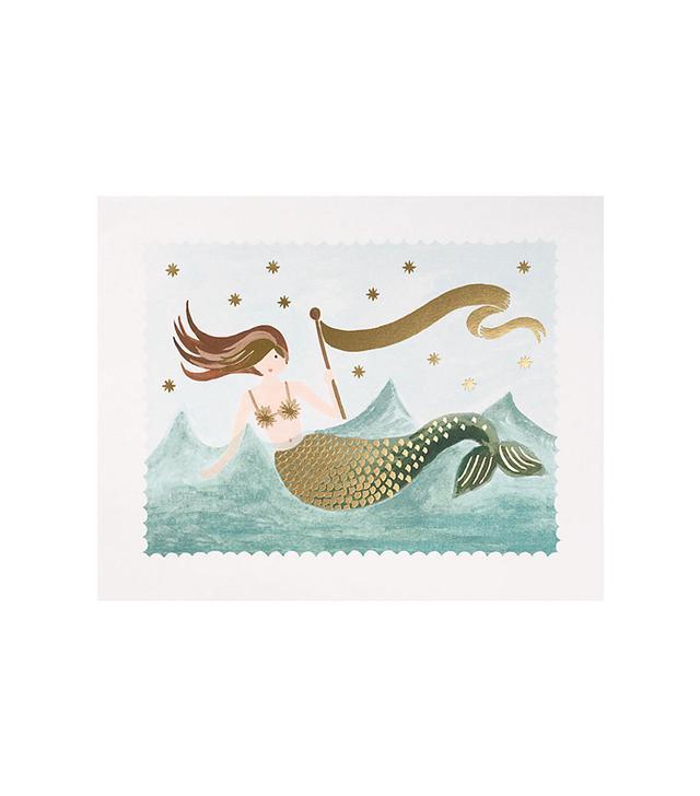 Paper Source Mermaid Art Print