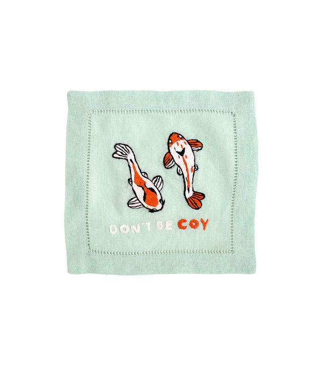 Biscuit Home Don't Be Coy Cocktail Napkin