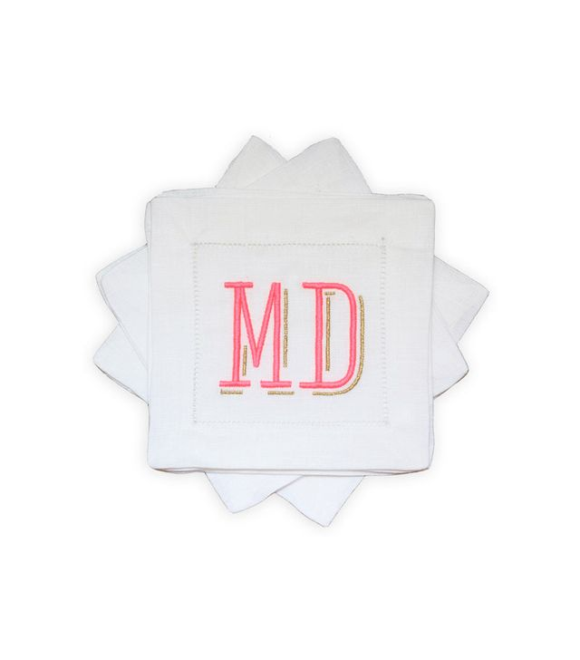Letter Made Milly Monogrammed Cocktail Napkin