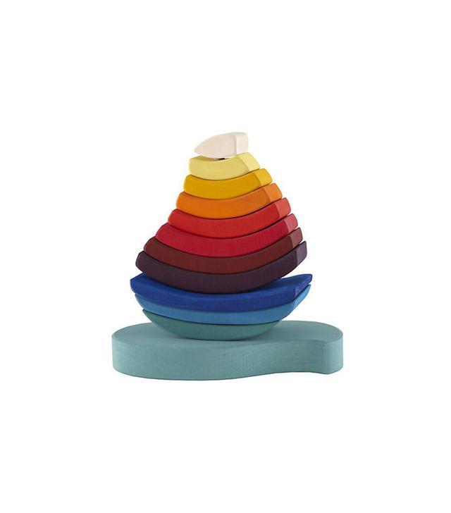 Land of Nod Rainbow Wood Stacking Toy