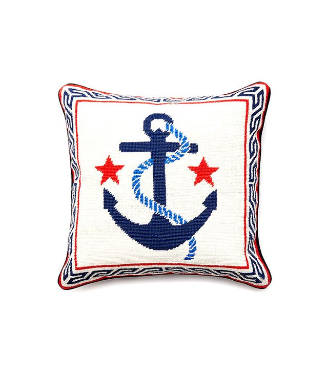 Jonathan Adler Anchor Needlepoint Pillow