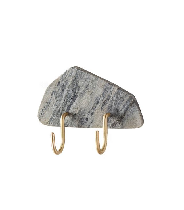 Anthropologie Silver Marble Hook