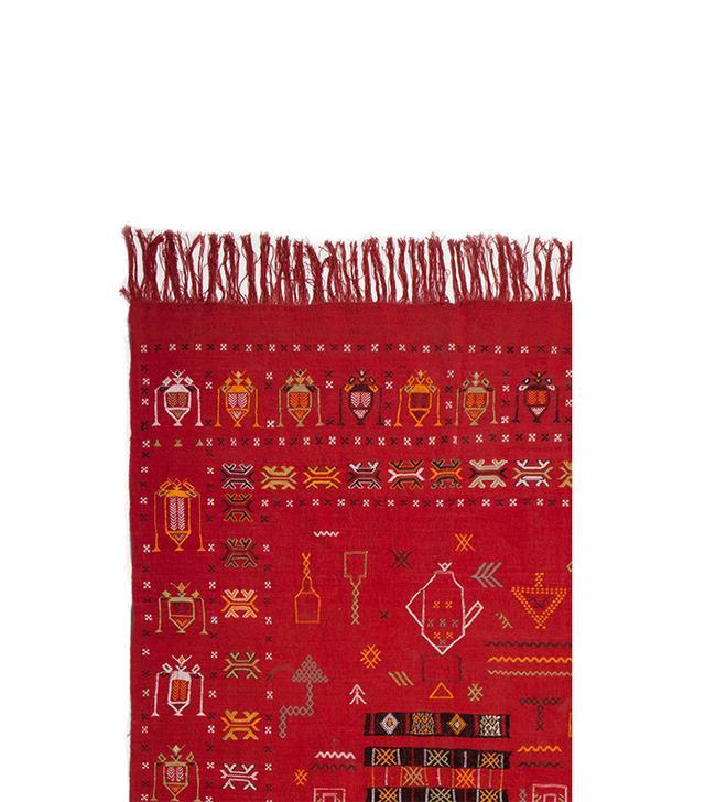 Moroccan Buzz Moroccan Embroidered Red Kilim