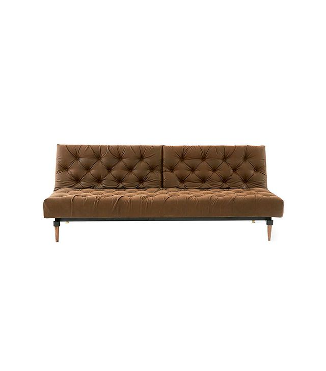 Urban Outfitters Faux Leather Chesterfield Convertible Sofa