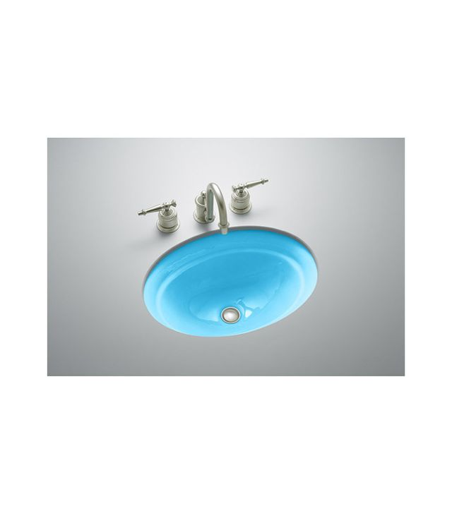 Kohler Serif Vapour Blue Cast Iron Undermount Sink