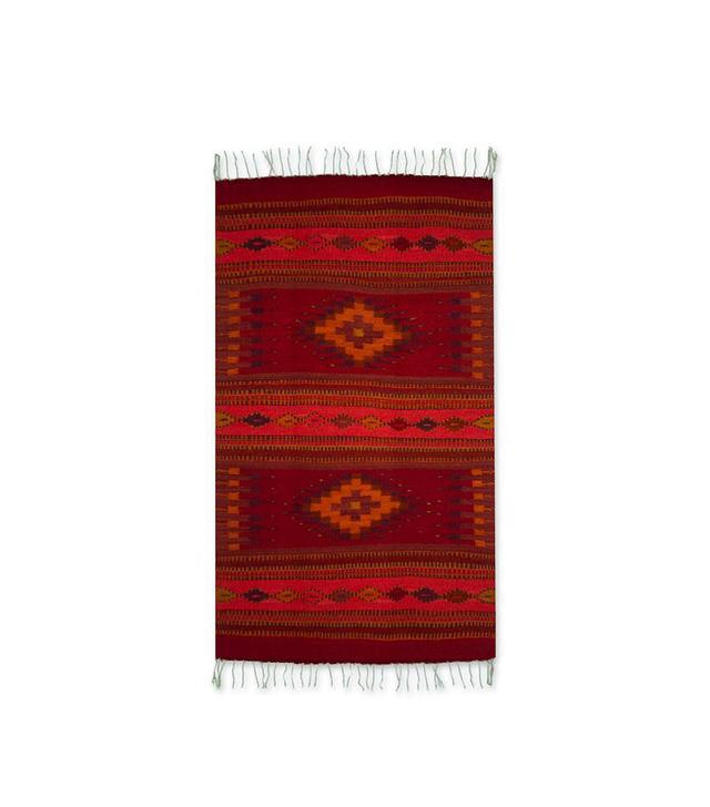 Authentic Zapotec Handwoven Wool Rug