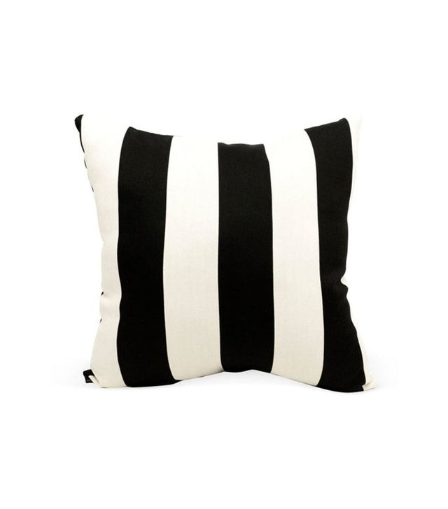 One Kings Lane Striped 20 x 20 Outdoor Pillow