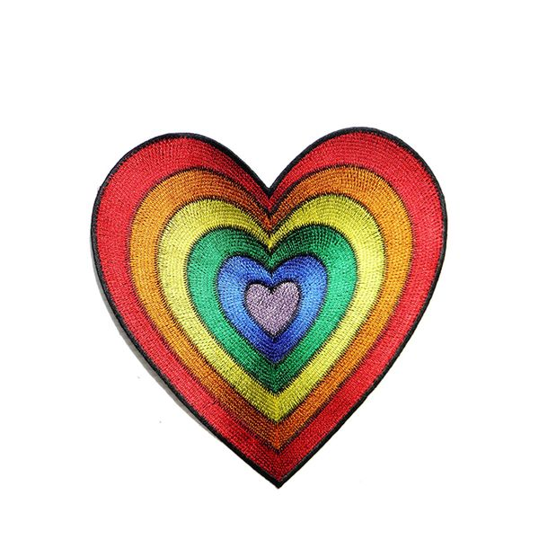 Panicha Biker Patch Big Jumbo Rainbow Heart Patch
