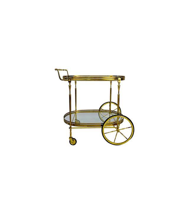 Fratelli Levaggi Italian Brass Bar Cart