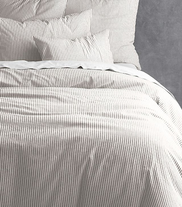 Restoration Hardware Garment-Dyed Ticking Stripe Duvet Cover