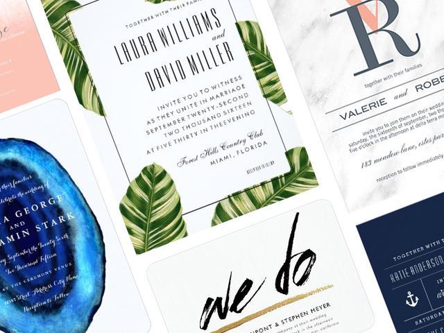 11 Stylish Wedding Invitations You'll Love