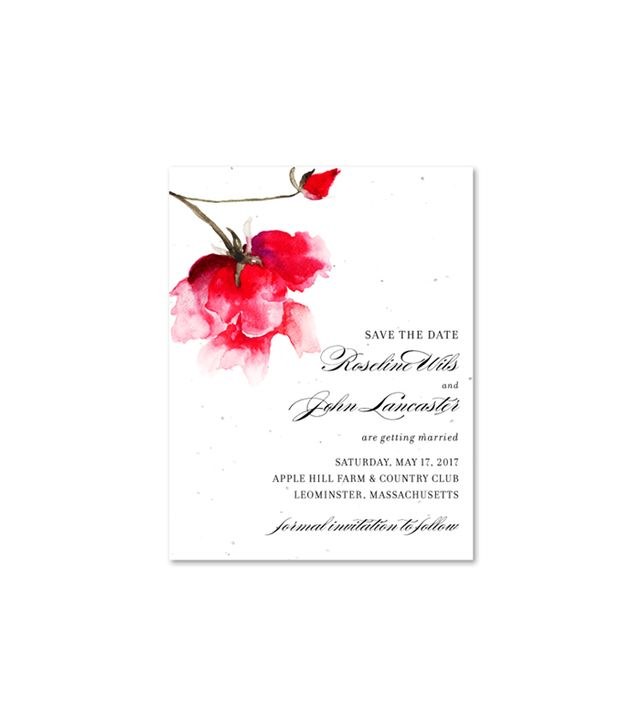 """Forever Fiancé Valentino Rose Plantable """"Save the Date"""" Invite"""