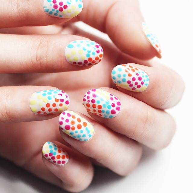 Tutorial: JinSoon's Summer Confetti Nails