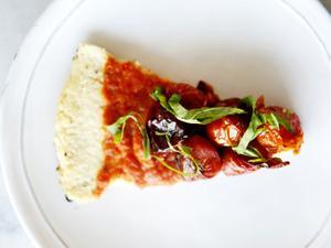 Roasted Tomato Cauliflower Crust Tart