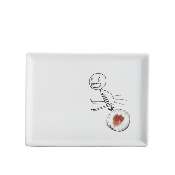 CB2 Oliver Sushi Appetizer Plate