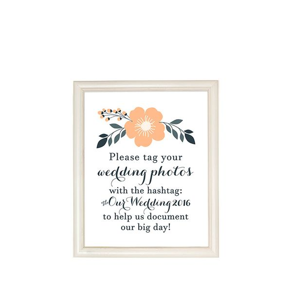 Hello Love Co. Printable Wedding Hashtag Sign