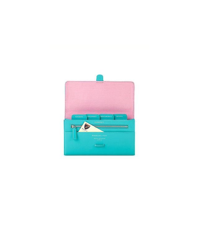 Aspinal of London Aqua Classic Travel Wallet
