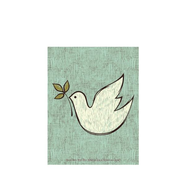 Jot Spot Stationary Peace Dove Light Notebook