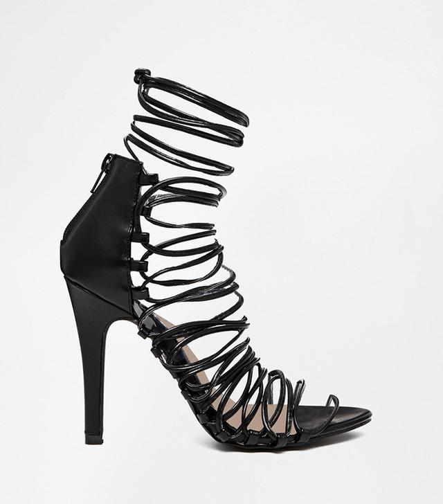 Pieces Sophie Multi Strap Heeled Sandals