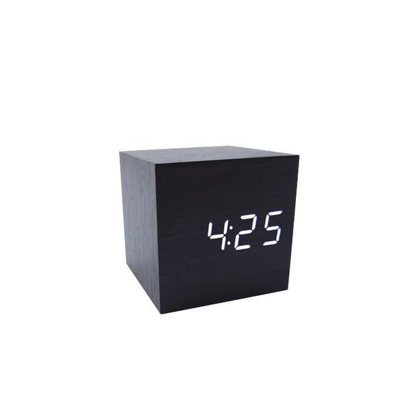 Cube Wood LED Alarm Clock