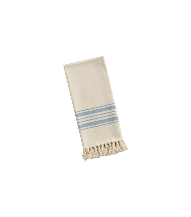 World Market Blue Villa Stripe Towel