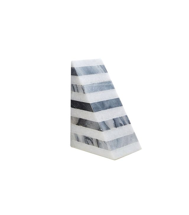 West Elm Striped Angle Geometry Bookend