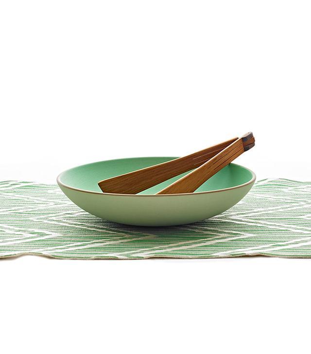 Heath Ceramics Summer Table Salad Bowl With Zig Zag Runner