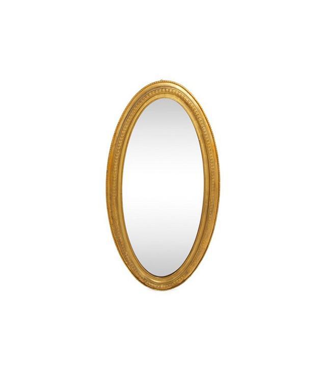 One Kings Lane Antique Oval Gilt Mirror