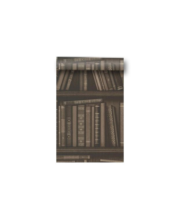 Brewster Wallcoverings Atheneum Brown Antique Books Wallpaper #2604-21231