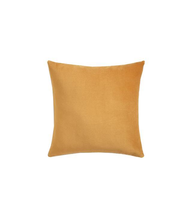 Cost Plus World Market Amber Gold Velvet Throw Pillow