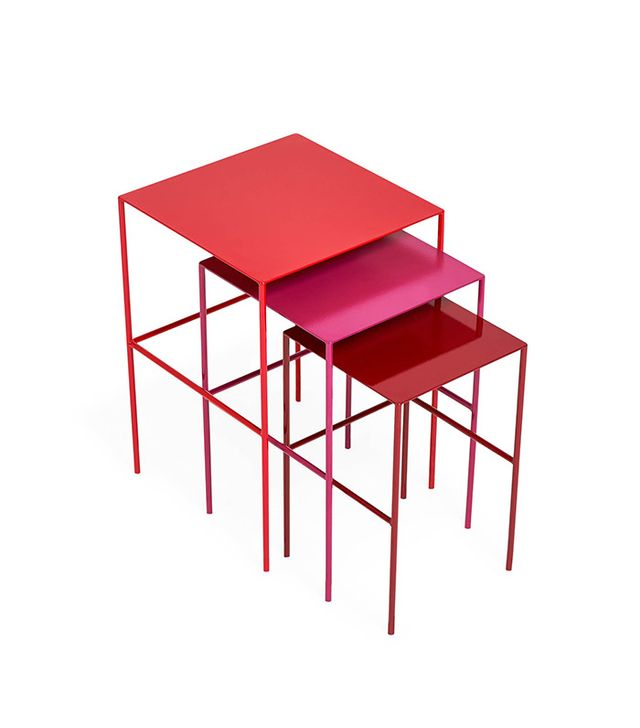 abcDNA Red Steel Nesting Tables