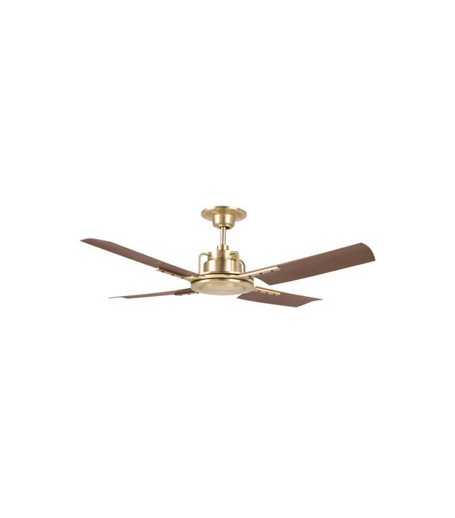 Peregrine Industrial Ceiling Fan in Gold Satin Finish
