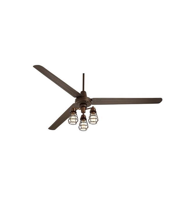 Euro Style Lighting Turbina XL Bendlin Cage Oil-Rubbed Ceiling Fan