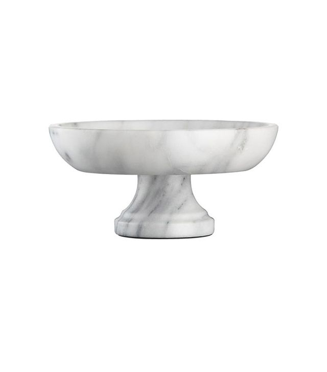 Crate and Barrel French Kitchen Marble Fruit Bowl