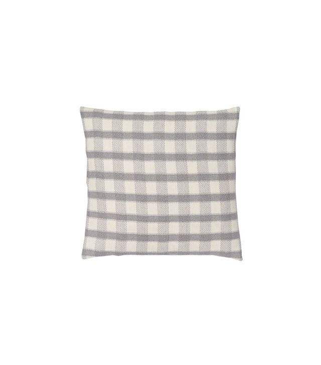 West Elm Hand-Loomed Silk Checker Striped Pillow Cover