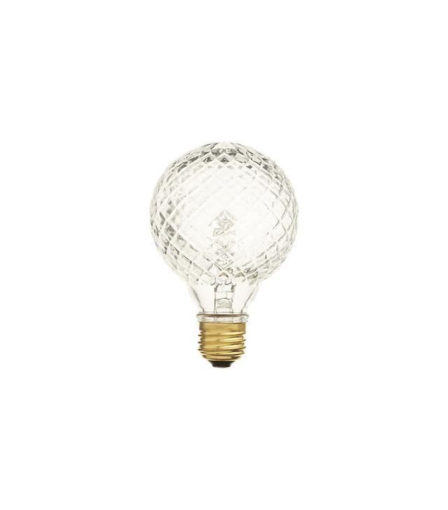 CB2 Cut Glass Llight Bulb