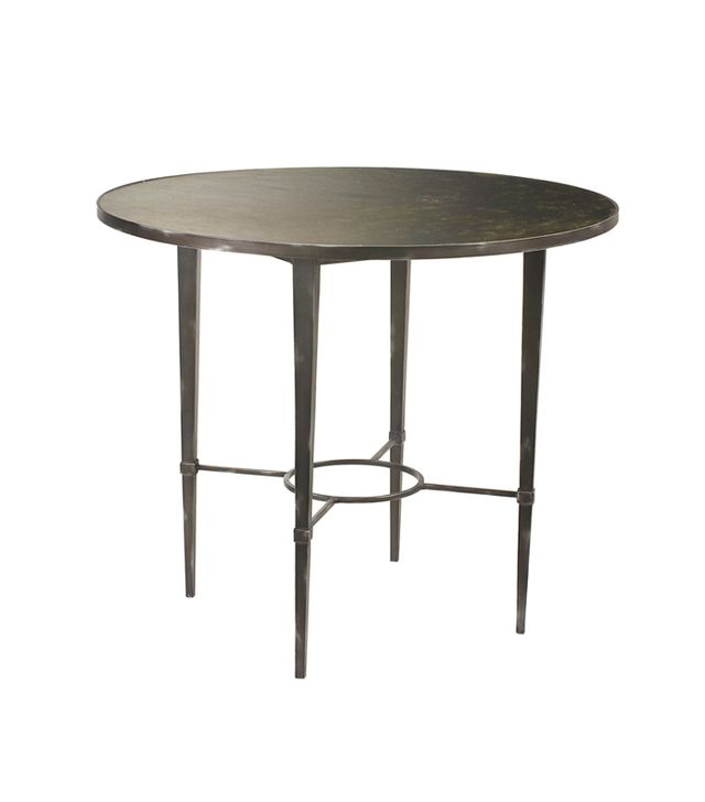 "French Heritage Ardenay 36"" Round Pewter Dining Table"