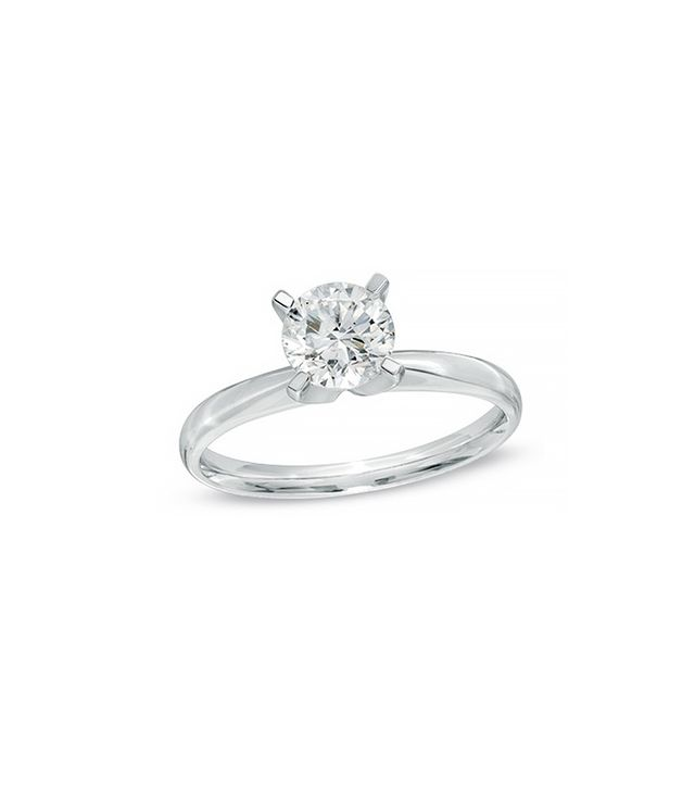 Zales 1 CT. Diamond Solitaire Engagement Ring, White Gold