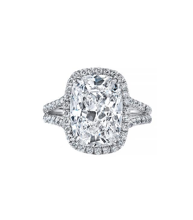Neil Lane Cushion Shape Diamond Engagement Ring, Platinum