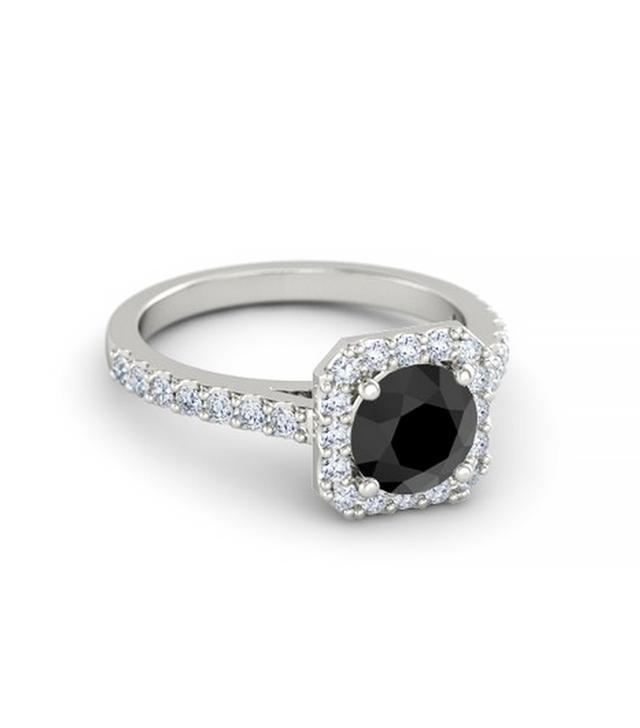 Gemvara Round Black Diamond Ring