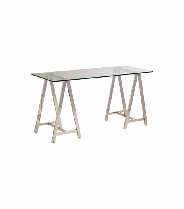 World Market Chrome Colton Sawhorse Desk Base