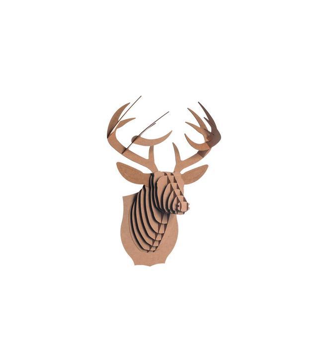 Cardboard Safari Bucky Cardboard Deer Head