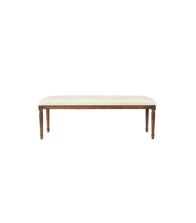 Ballard Designs Louis XVI Upholstered Bench