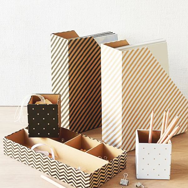 West Elm Gold Kraft Office, Set of 3