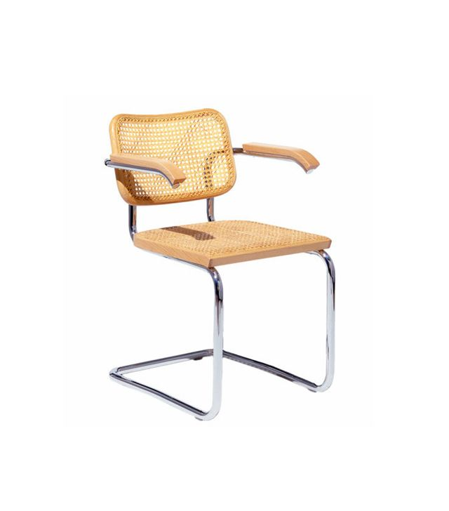 Marcel Breuer for Knoll Cesura Cane Woven Arm Chair