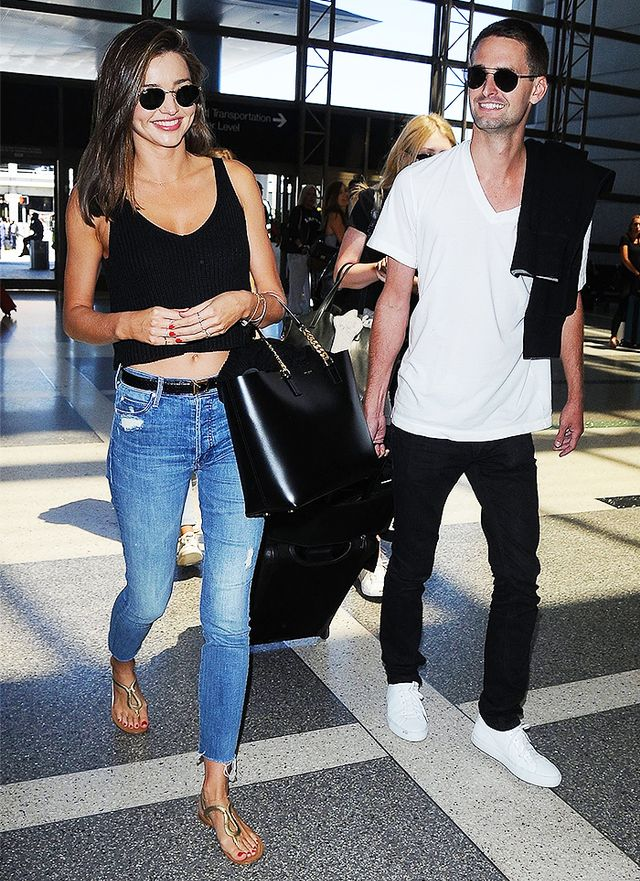The Comfy Shoes Celebs Wear To The Airport Who What Wear Au
