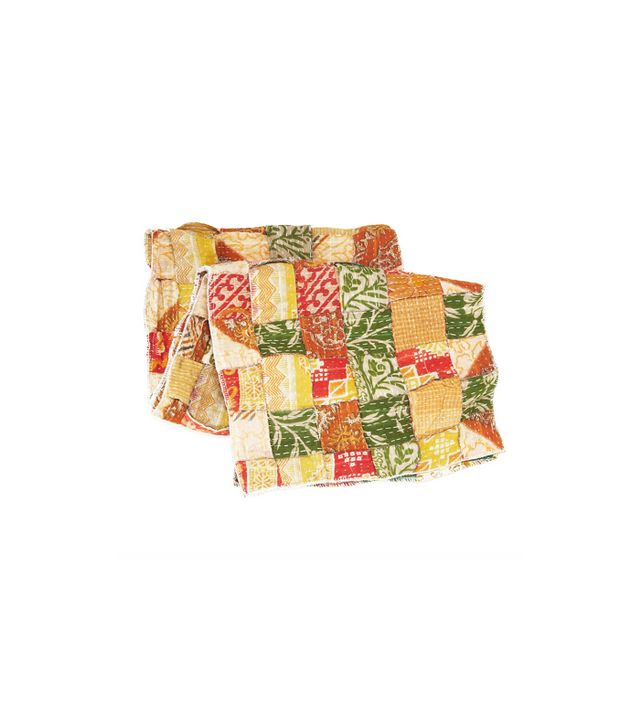 Uncommon Goods Recycled Kantha Table Runner
