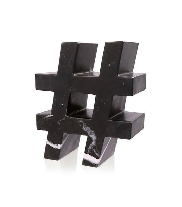 Kelly Wearstler Marble Hashtag Sculpture